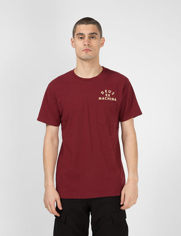 Deus Ex Machina Camperdown Pocket T-Shirt - Sangria Red