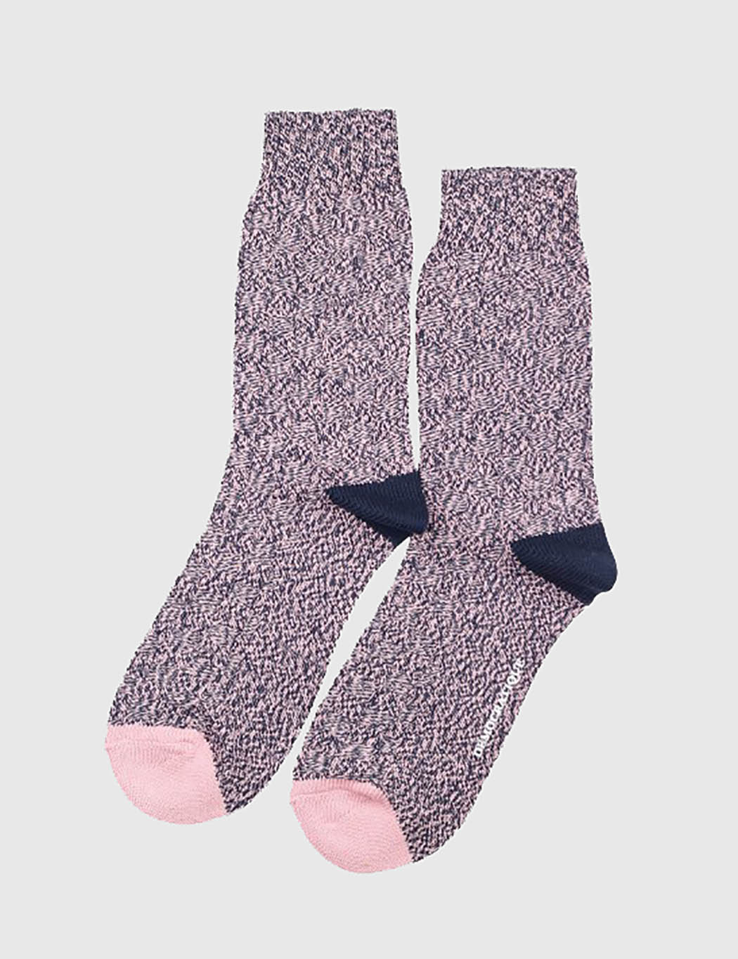 Democratique Relax 8 by 8 Weave Socks - Navy/Pink