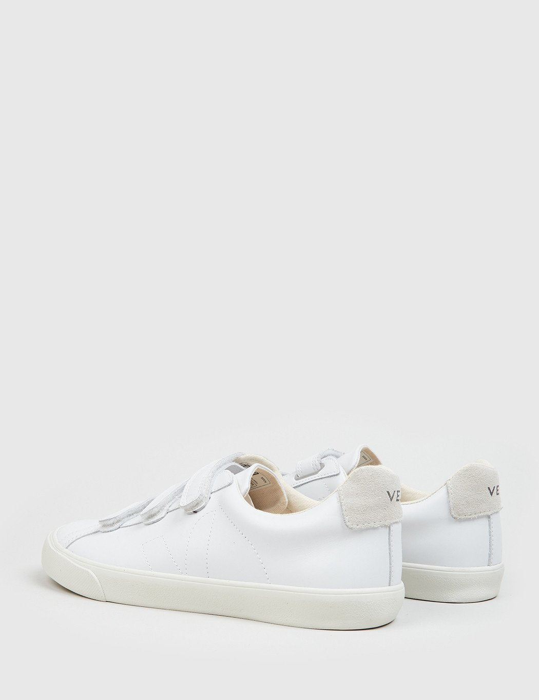 Veja Esplar 3-Lock Low Leather Trainers - Extra White/Natural