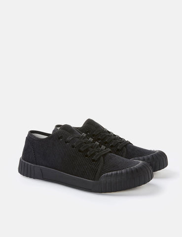Good News Slugger Low Trainers (Corduroy) - Black/Black