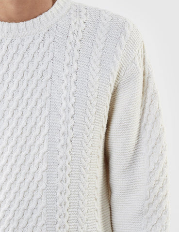 Edwin United Knit Jumper - Natural