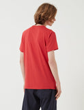 Edwin Pocket Jersey T-Shirt - Washed Red