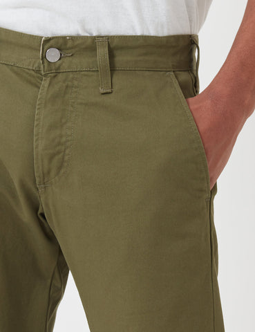 55 Chino (Regular Tapered) - Military Green Rinsed