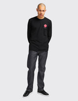 Edwin Japanese Sun Long Sleeve T-Shirt - Black