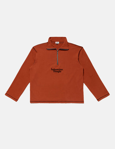 SCRT Independent Thought Pullover Sweatshirt - Rust Red/Black