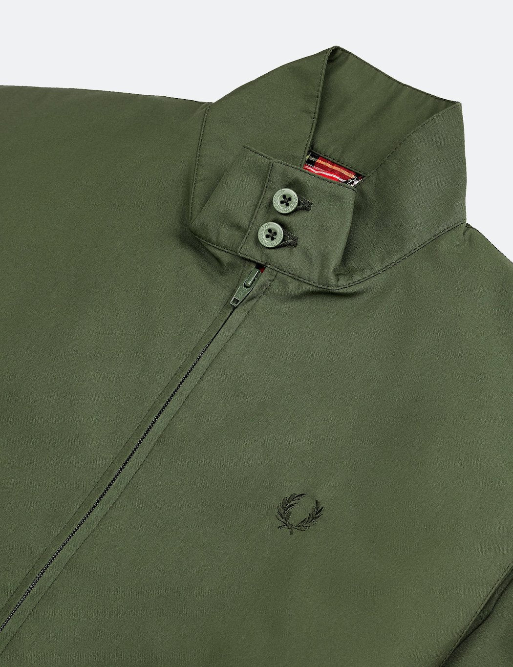 Fred Perry Re-issues Harrington Jacket (Made in UK) - Olive Green