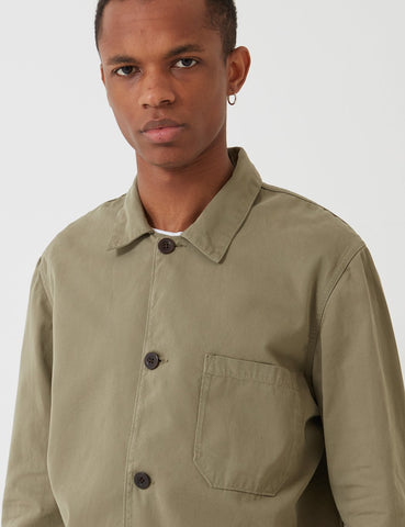 Portuguese Flannel Labura Workwear Jacket (Cotton) - Olive Green