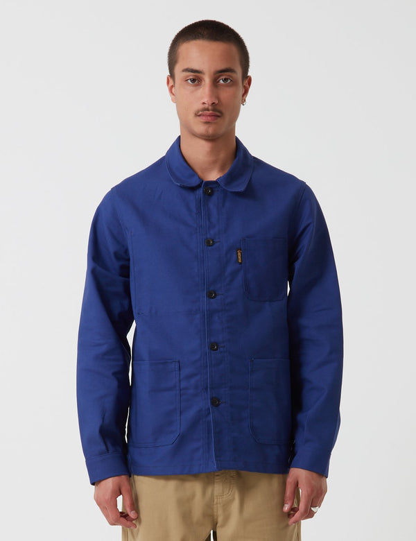 Le Laboureur Cotton Work Jacket - Navy Blue
