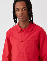 Le Laboureur Cotton Work Jacket - Red