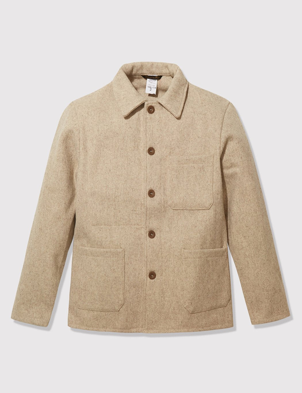 Le Laboureur Burel Wool Work Jacket - Beige