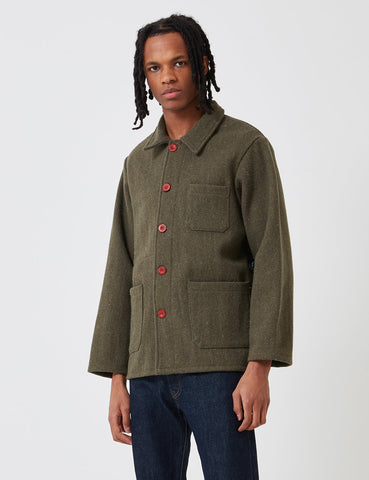 Le Laboureur Wool Work Jacket - Khaki Green