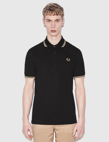 Fred Perry Twin Tipped Polo Shirt - Black