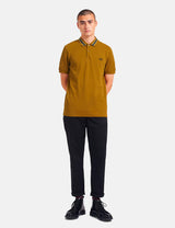 Fred Perry Tramline Tipped Polo Shirt - Dark Caramel