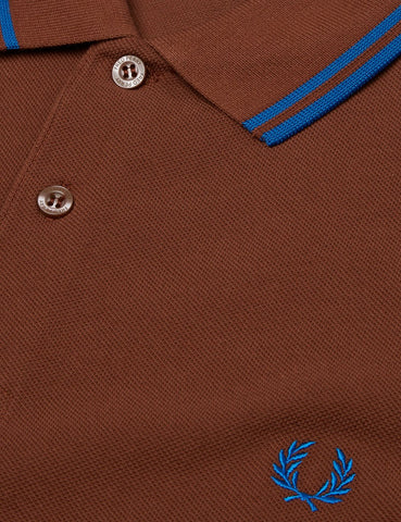 Fred Perry Twin Tipped Polo Shirt - Root Beer Brown