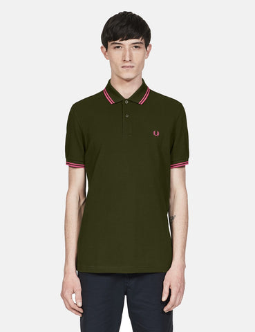 Fred Perry Twin Tipped Polo Shirt - Rifle Green
