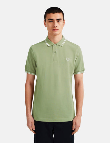 Fred Perry Twin Tipped Polo Shirt - Light Sage