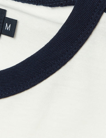 Fred Perry Taped Ringer T-Shirt - Snow White