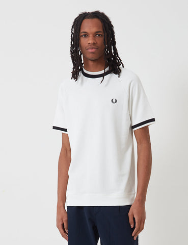 Fred Perry Raglan Sweat Top T-shirt - Snow White