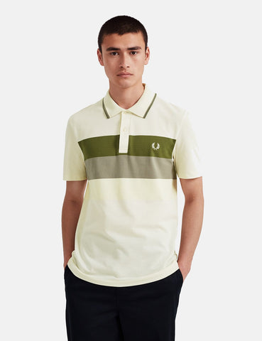 Fred Perry Reissue Mesh Panel Tennis Polo Shirt - Ecru