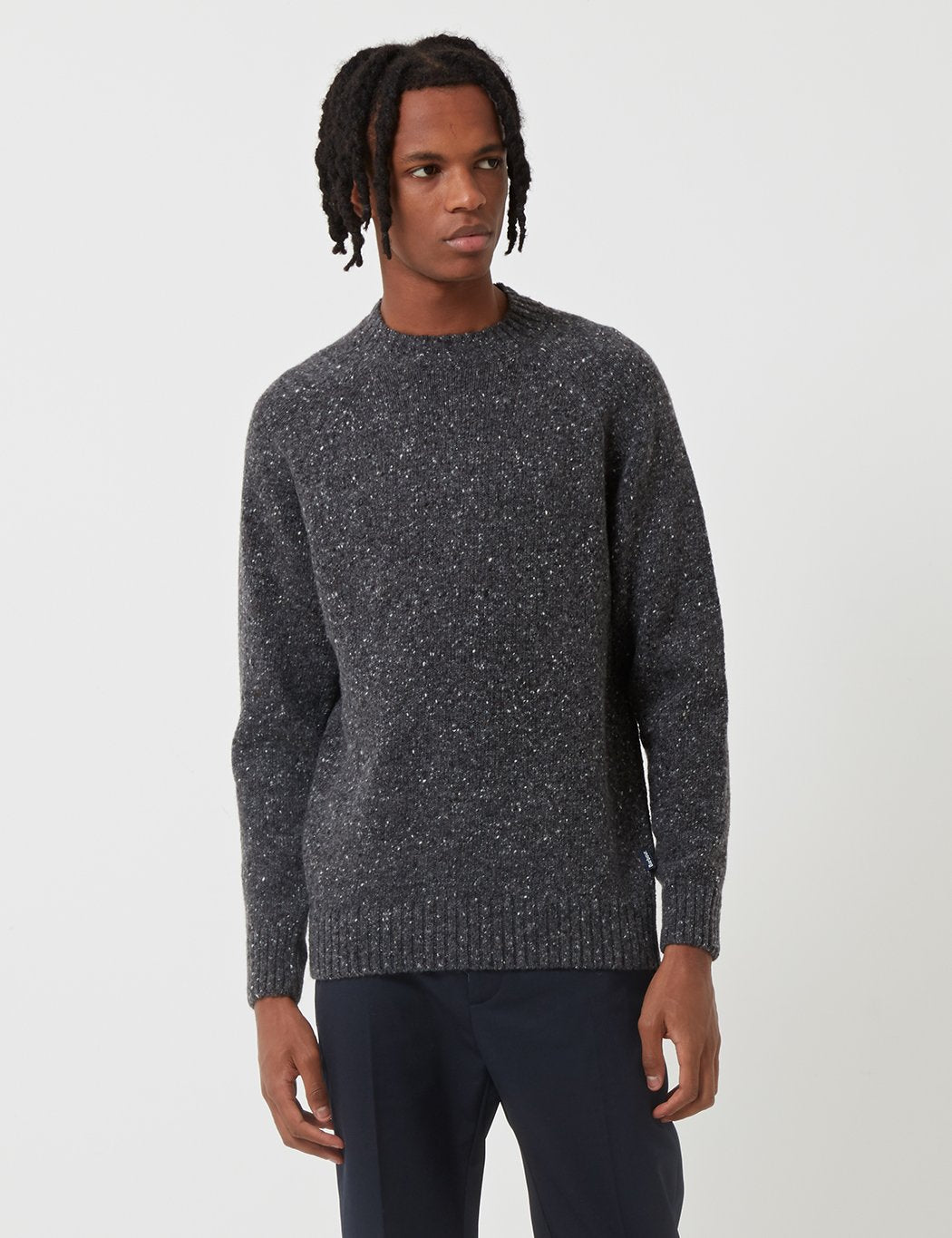 Barbour Netherton Knit Sweatshirt - Charcoal Grey