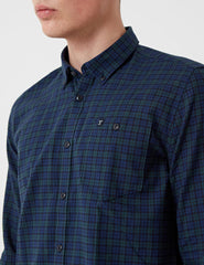Barbour Fletcher Flannel Shirt - Navy Blue