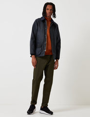 Barbour Waxed Bedale Jacket - Navy