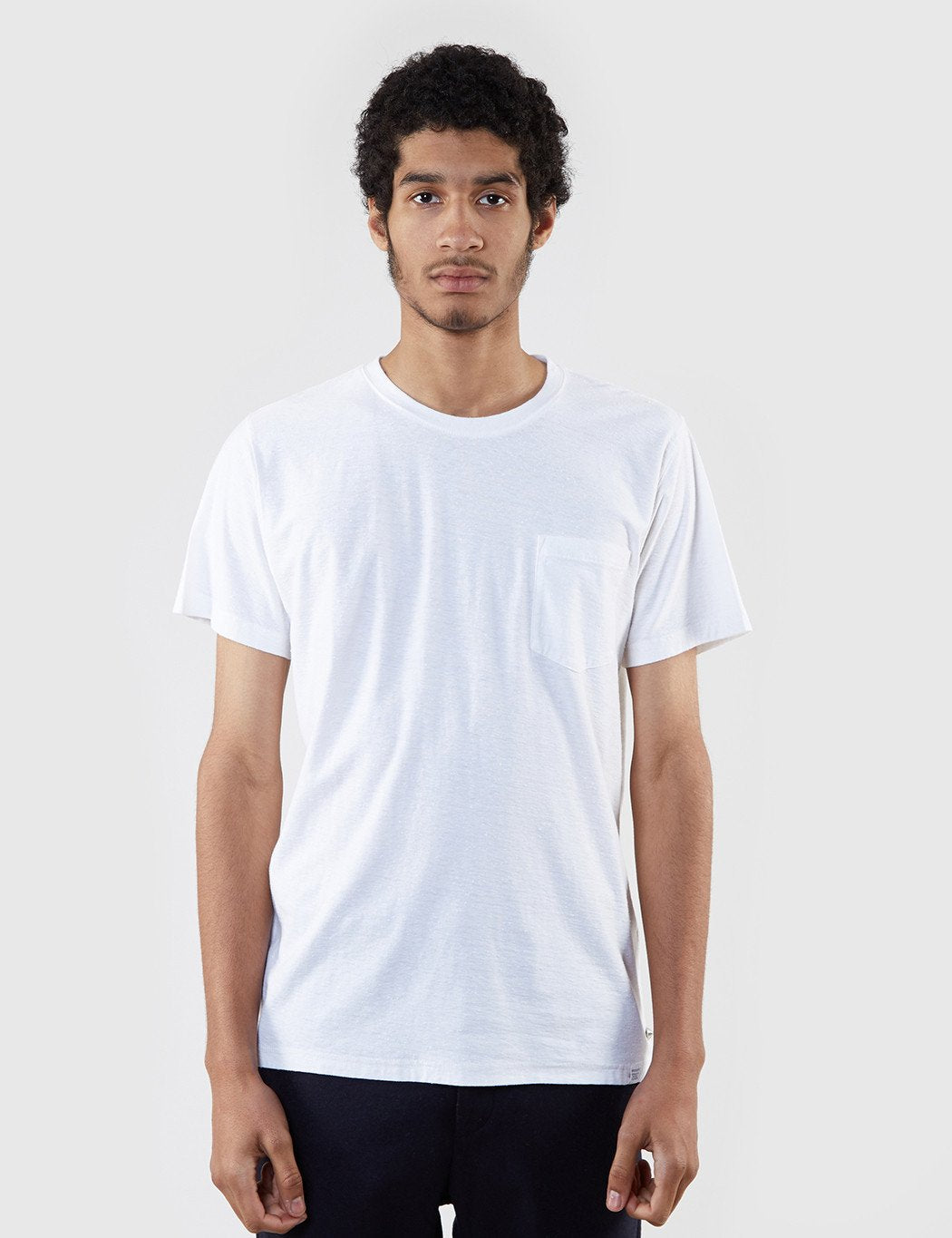 Norse Projects Niels Pocket Boucle T-Shirt - White