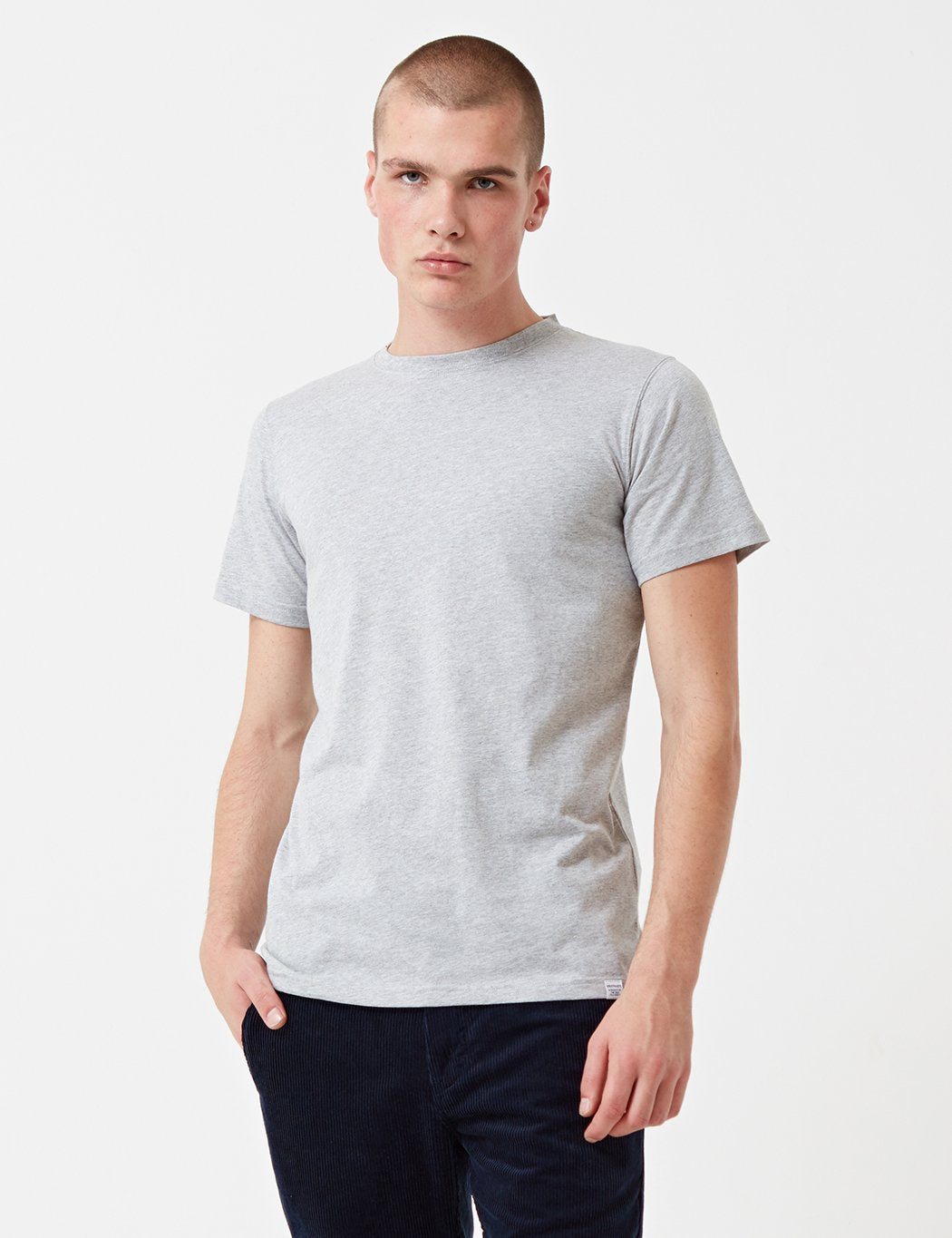 Norse Projects Standard T-Shirt - Light Grey Melange
