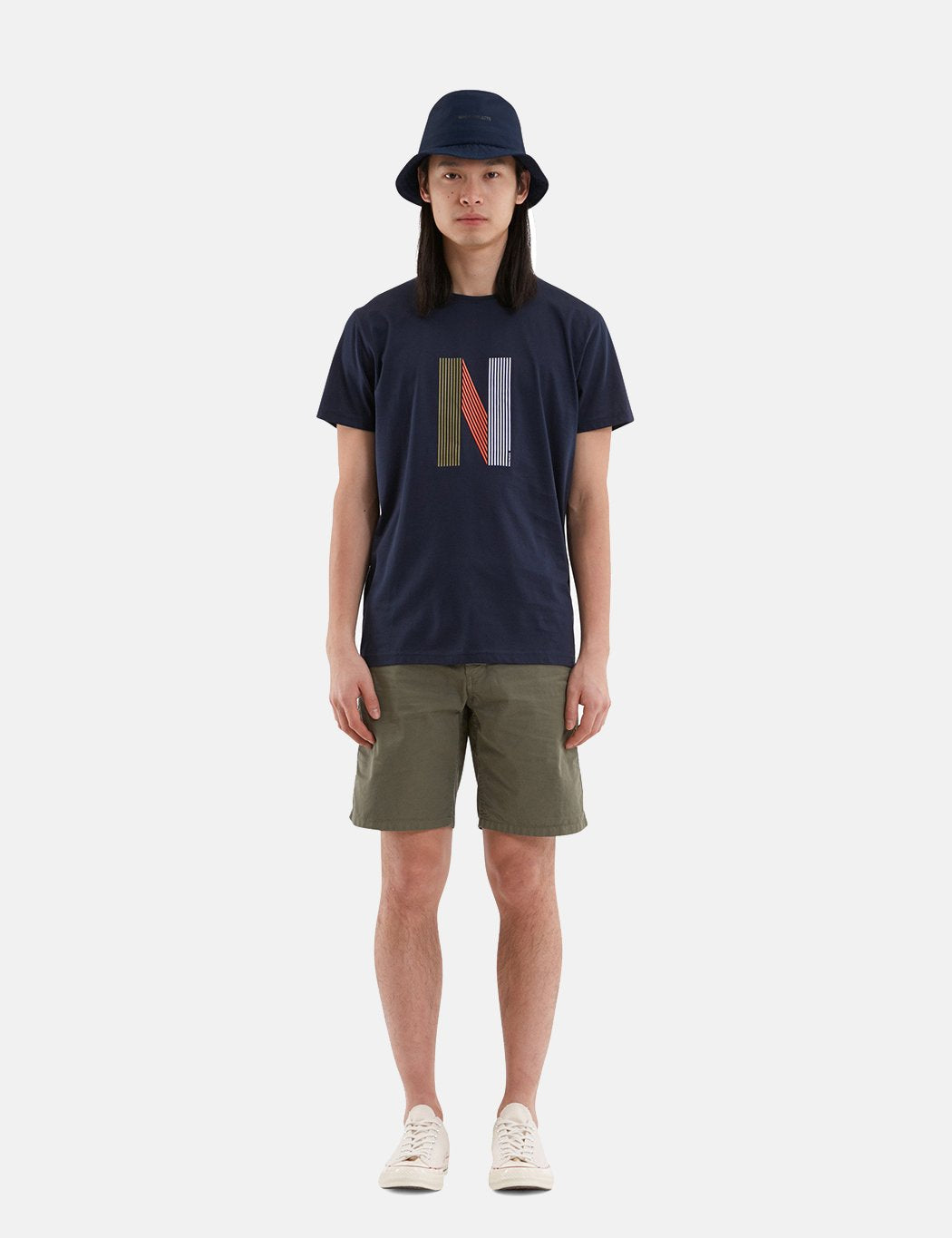 Norse Projects Niels Layer Logo T-Shirt - Dark Navy