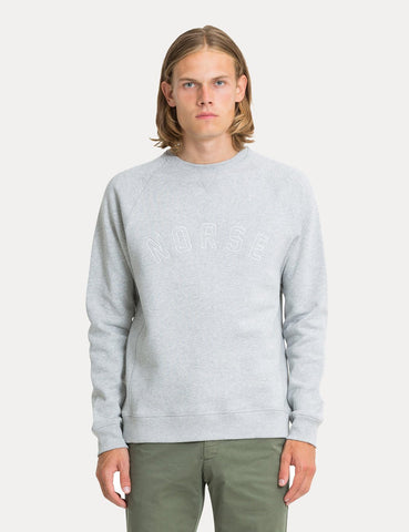 Norse Projects Ketel Classic Ivy Logo Sweatshirt - Light Grey Melange