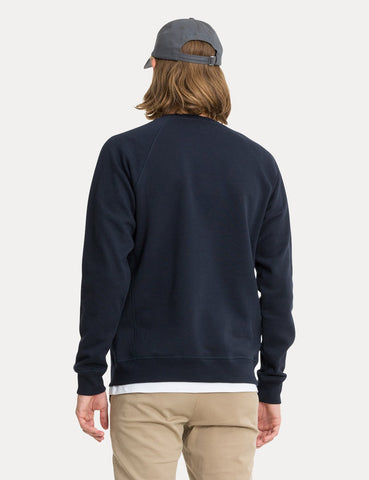 Norse Projects Ketel Classic Ivy Logo Sweatshirt - Dark Navy Blue
