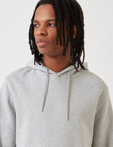 Norse Projects Vagn Classic Hooded Sweatshirt - Light Grey Melange