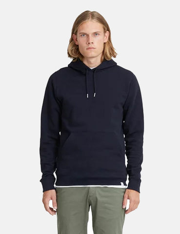Norse Projects Vagn Classic Hooded Sweatshirt - Dark Navy Blue