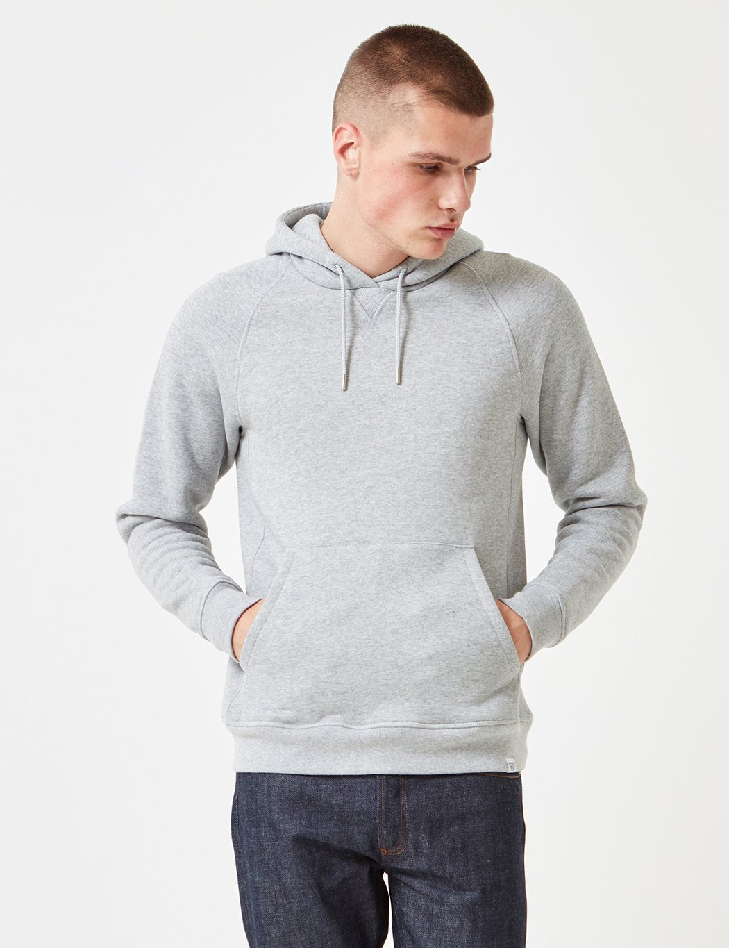 Norse Projects Ketel Hooded Sweatshirt - Light Grey