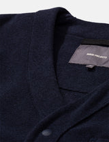 Norse Projects Vidar Fleece Jacket - Dark Navy Blue