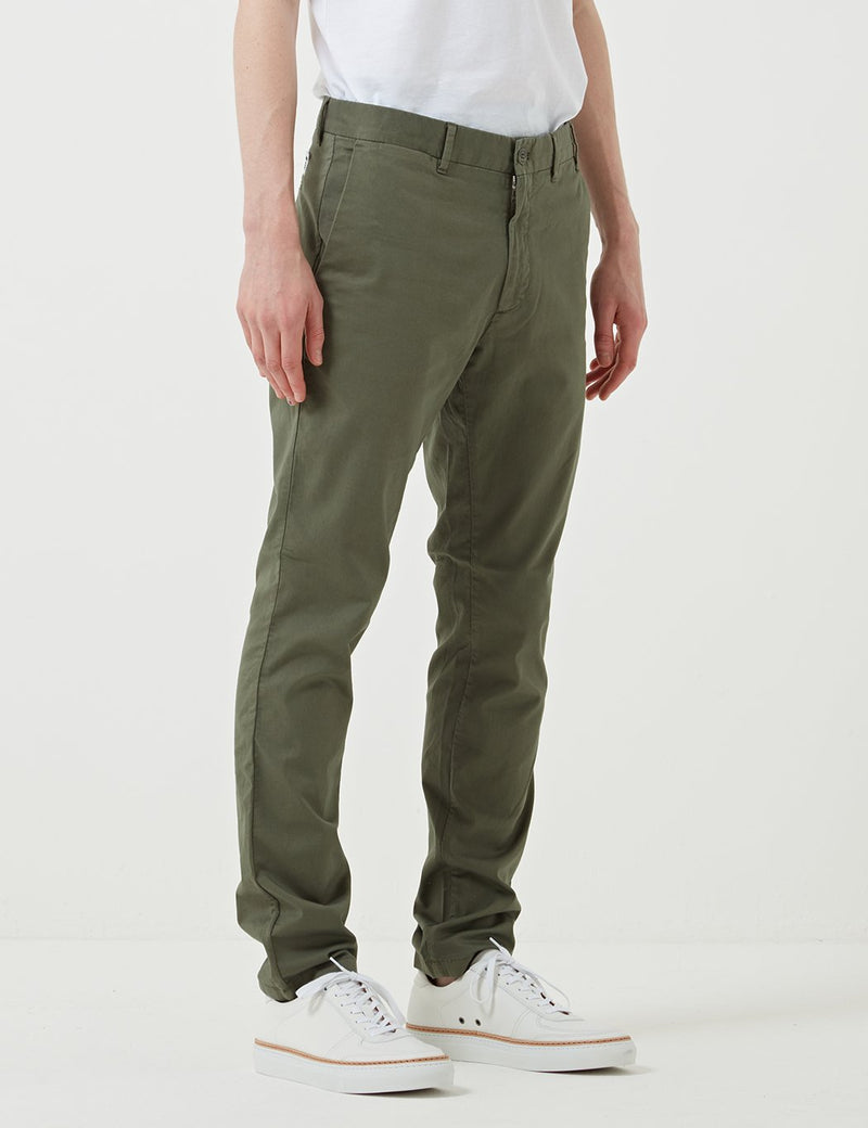 Norse Projects Aros Light Stretch Chino (Slim) - Dried Olive