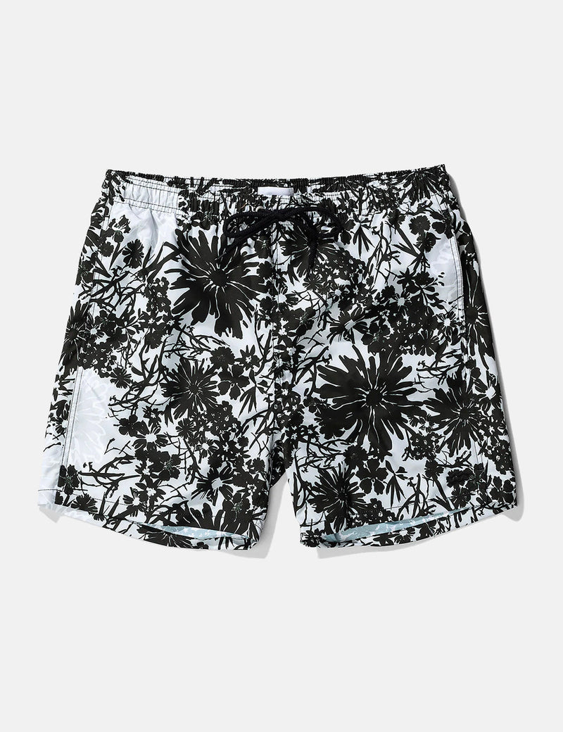 Norse Projects Hauge Flower Print Swim Shorts - Glacier Grey
