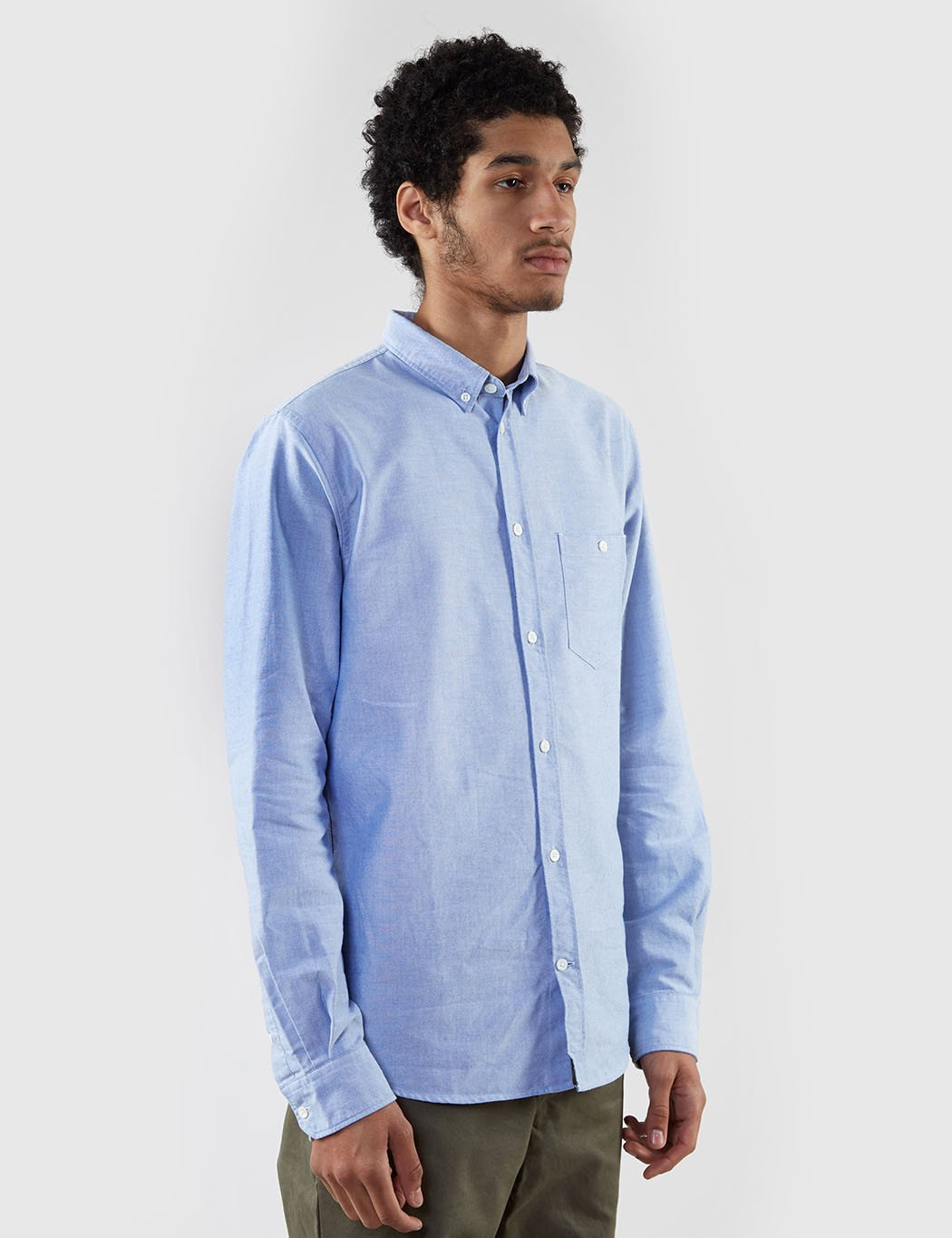 Norse Projects Anton Oxford Shirt - Navy Blue