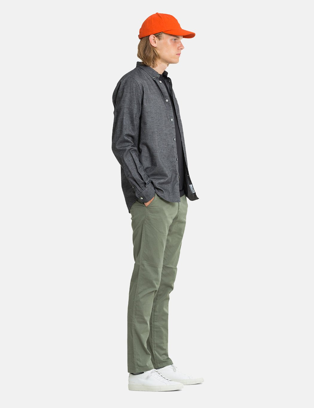 061a9d62097 Norse Projects Anton Brushed Flannel Shirt - Magnet Grey | URBAN ...