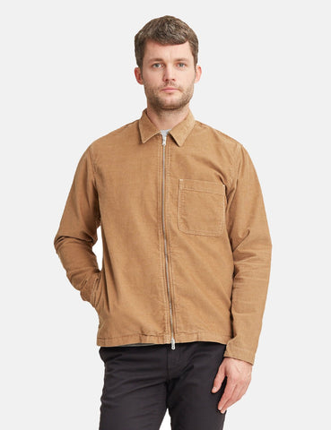 Norse Projects Jens Cord Overshirt - Camel