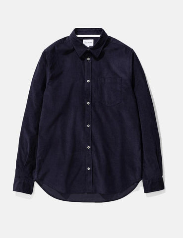 Norse Projects Osvald Shirt (Cord) - Dark Navy Blue
