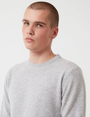 Norse Projects Sigfred Lambswool Jumper - Light Grey