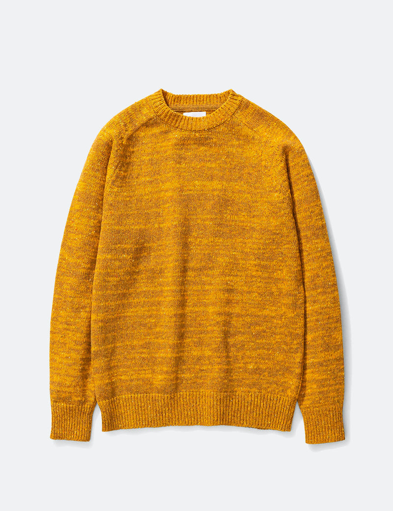 Norse Projects Viggo Crewneck Neps Knitted Sweater  - Montpellier Yellow