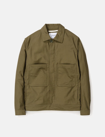 Norse Projects Tyge Broken Twill Jacket - Dried Olive