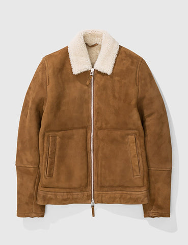 Norse Projects Elliot Shearling Jacket - Camel