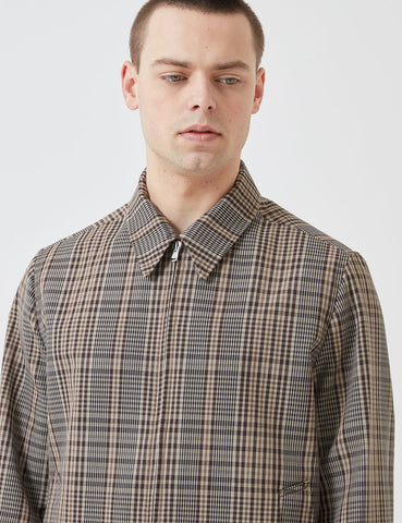 Norse Projects Elliot Compact Twill Jacket - Beige/Brown Check