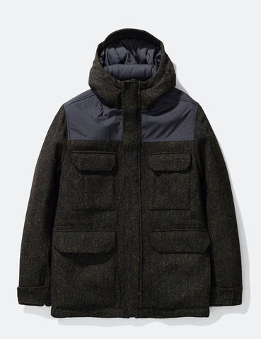 Norse Projects Nunk Harris Tweed Coat - Black Multi