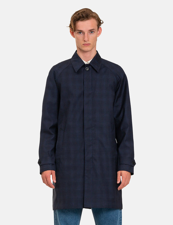 Norse Projects Svalbard 3 Layer Technical Wool Coat - Navy Blue