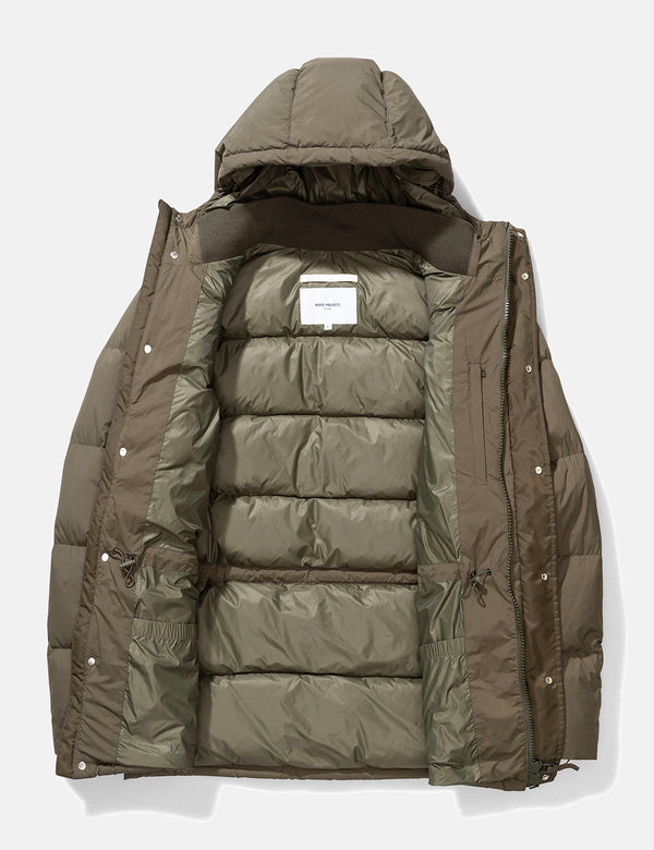 Norse Projects Willum Down Puffa Jacket - Ivy Green