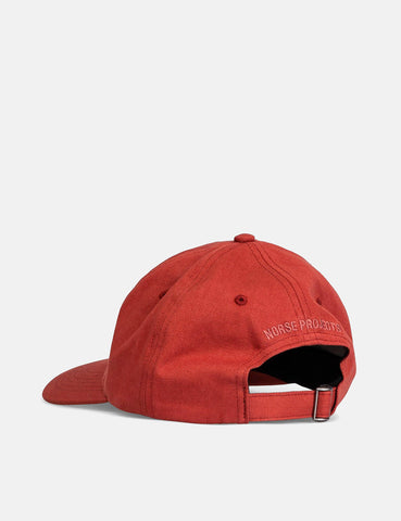 Norse Projects Twill Sports Cap - Carmine Red